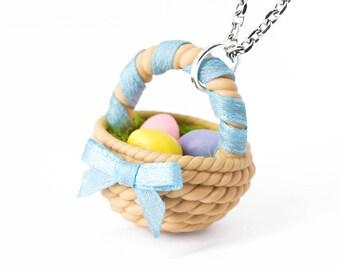 Handmade Easter Egg Basket Pendant (CHAIN Is NOT INCLUDED). Easter Eggs jewelry, Easter Jewelry