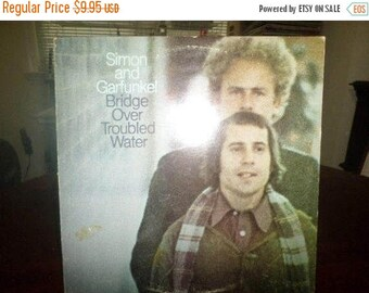 Save 30% Today Vintage 1970 LP Record Simon and Garfunkel Bridge Over Troubled Water Very Good Condition 5060