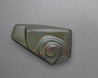 Carved Rainbow Obsidian