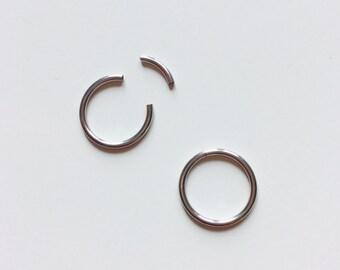Segment Ring | Segment | Ring | Silver Coloured | Septum | Ear | Piercing | Body Jewellery