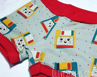 Floppy Disk Fitted Youth Shorts