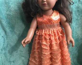 """Prom style dress fits 18"""" hard body doll -- clothes only"""
