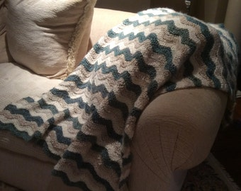 Rugged Ripples Crochet Blanket