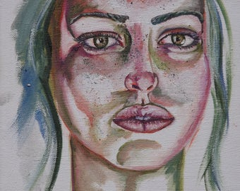 Contemplative, original painting