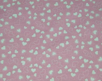 Pink Heart Hearts Valentine Quilting Fabric 1/2 Yard 12484