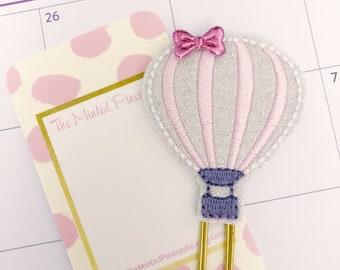 Hot Air Baloon Planner Clip /Glitter Planner Clip/ Planner Supplies / Felt Planner Clips / Bookmark / Summer Planner Clip
