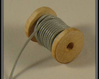 5 meters of cord waxed polyester 1 mm grey