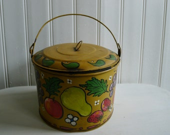 Handpainted tin lunch pail