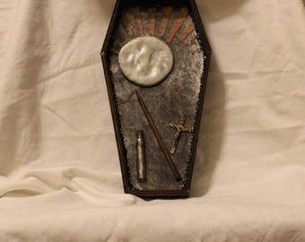 Creepy Coffin Shadowbox Lore of the Vampire