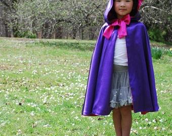 Girls Purple Cloak, Fairy Princess Viola READY TO SHIP