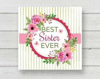 Digital Art Download - Personalized Gift -  Sister - Art Printable
