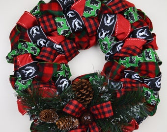 Outdoorsy  Holiday Wreath
