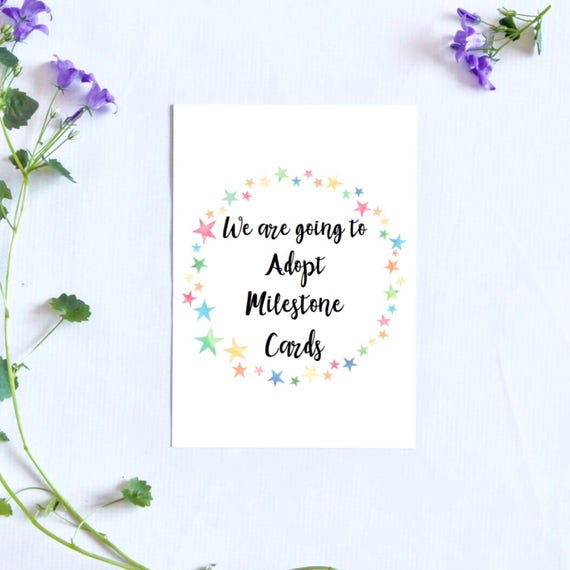 Pre adoption milestone cards pre adoption celebration cards m4hsunfo
