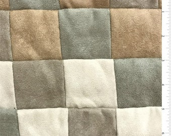 Small Square Patchwork Suede, Fabric By The Yard