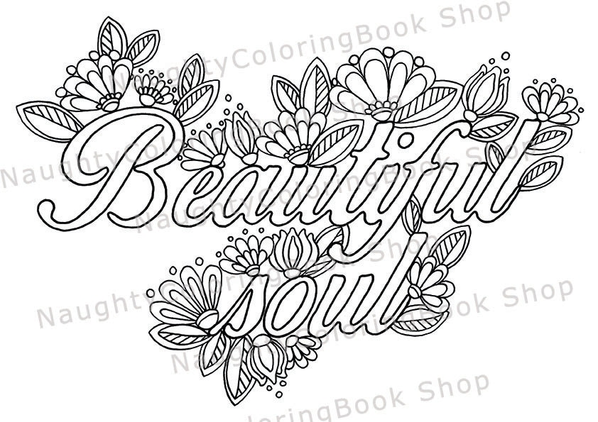 beautiful soul printable gift coloring page law of