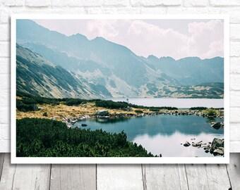 Mountain Lake Print, Landscape Print, Landscape Photo, Nature Photography, Printable Art, Digital Wall Art, Lake Photography, Nature Print