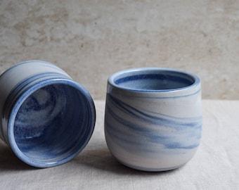 Ceramic Mug, Handmade Ceramic Mug, Blue marbled ceramic mug, contemporary mug, Ceramic Cup, Ceramic Tumbler, Porcelain Mug, Coffee Mug (M47)