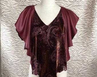 Wine and Velvet Coverup Handmade Limited Production USA