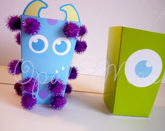 Instant Download Monsters Printable Treat Box