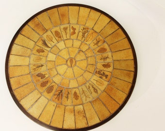 Mid Century Modern Roger Capron Low Coffee Table Tile Top Vallauris France