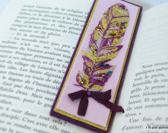 Bookmarks original embroidered hand-embroidered bookmark - Handmade gift, mother's day gift