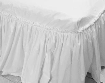 Cotton Ottoman Cover, Ottoman Slipcover