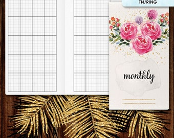Personal inserts | Monthly planner, monthly calendar printable (filofax personal, TN inserts, tn personal inserts, travelers notebook)