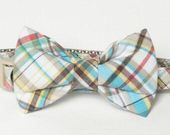 SALE Plaid Dog Collar Bow Tie set, pet photography