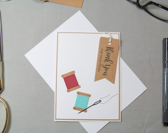 Business Thank You Card - Small Business Cards - Small Business Tags - Sewing Card Tag - Card Tags - Handmade Seller Cards - Thank You Tags