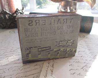 Vintage Printing Press Block - Trailers