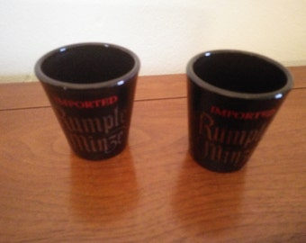 Vintage shot glasses - Rumple Mintze Shot Glasses