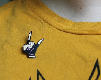 80s Punk Rocker Pin