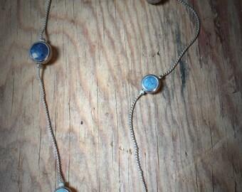 Unique Blue Stone Necklace