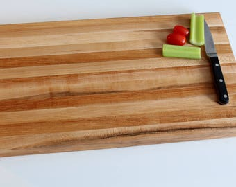 Thick Brown Maple Cutting Board, chopping block, butcherblock, pastry board, for serious chefs