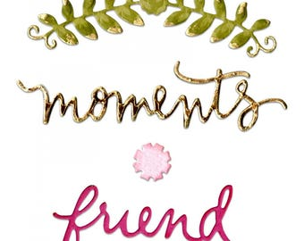 Sizzix Thinlits Floral Arch and Words