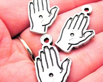 Domestic Violence awareness hands  charms 3 pieces