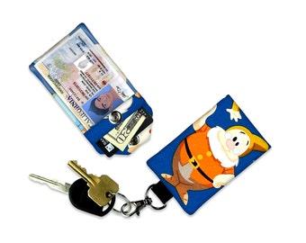 Disney Seven Dwarfs Doc ID Wallet, Mini Wallet, Lanyard ID Holder, Luggage Tag, Vacation ID Wallet
