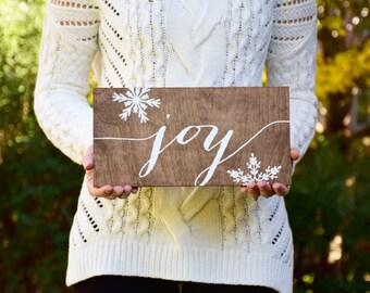 Christmas Signs Joy - Christmas Sign - Wood Sign - Wood