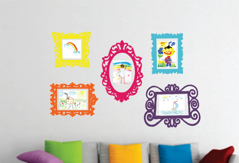 Wall Decal Set of 5 Frames Playroom Decor Bedroom Wall