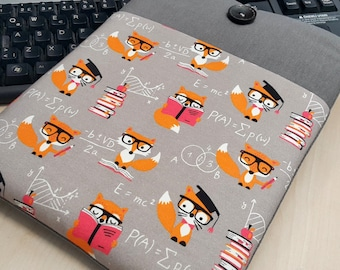 "Laptop Sleeves 15"" to 15.6"" Laptop Sleeves, Chromebook Sleeve Acer CLoodbook 14, HP Envy 15.6 inch, DeLL XPS 15.6"", LAptop Case- FOX"
