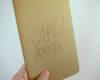 Girl Boss Moleskine Notebook