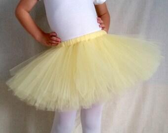 Light Yellow Tutu/Pastel/Yellow Baby Tutu/Yellow Toddler Tutu/Yellow Chick Tutu/Yellow Duck Tutu/Halloween Tutu/Costume Tutu/Sports Tutu