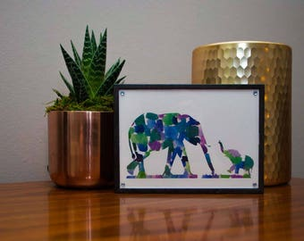 Watercolor Elephants Print