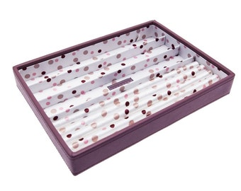 Stackers Medium Pink & Polka Dot Stacker Jewellery Tray- Ring Holder LC70482