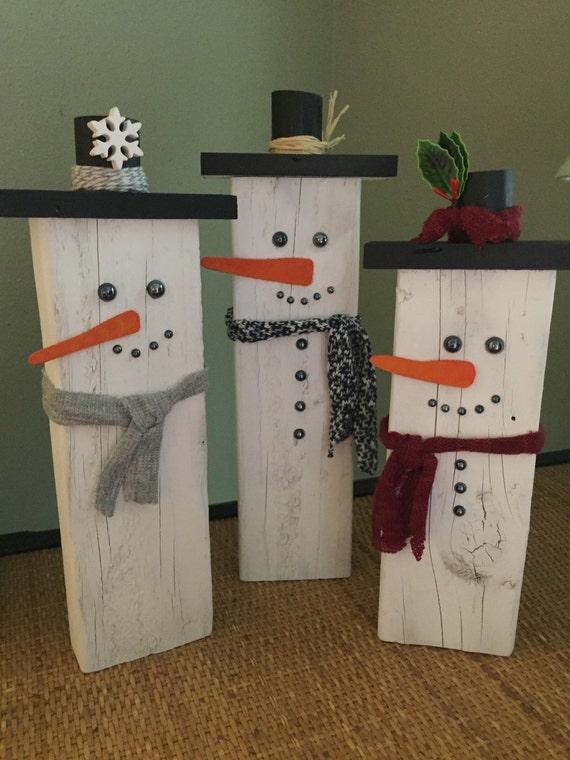 Palette de bois recycl es bonhomme de neige - Bonhomme de neige en bois ...