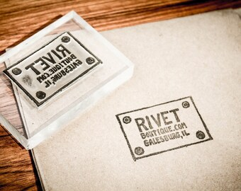 Custom Acrylic Rubber Stamp - 3 x 3 Inches