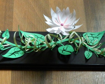 3D Paper Sculpture Vine Flower