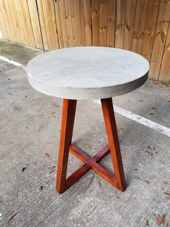 Industrial Concrete Round Side Table - Industrial concrete side table