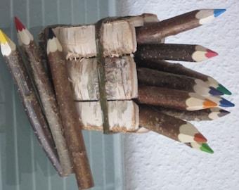 12 thick crayons crayons crayons pencils wood natural wood