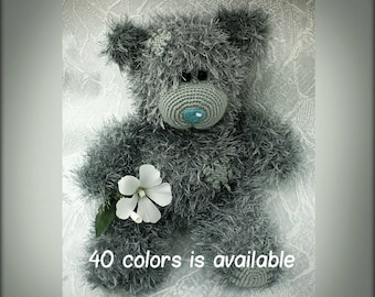 Hand knitted Teddy Bear Valentine's Day Gift with Love Gift for Her MADE TO ORDER